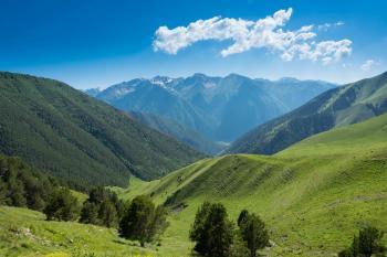 2-й день. Вид с перевала Еникол.